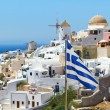 Oia village scenery on Santorini island, Greece — Stock Photo