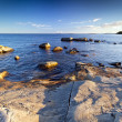Rocky Baltic Sea coastline — Stock Photo