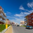Stock Photo: Street with new apartments