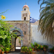 Stock Photo: 15th century monastery Moni Toplou on Crete