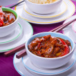 Stock Photo: chinese sweet and sour chickenwith rice