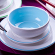 Multicolored Chinese bowls — Stock Photo