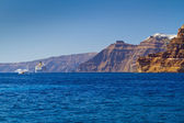High volcanic cliff of Santorini island — Stock Photo