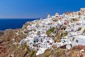 Architecture of Oia town on Santorini island — Stock Photo