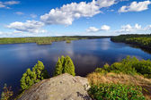Swedish lake in the summer time — Stock fotografie
