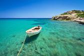 Blue lagoon of Vai beach on Crete — Stock Photo