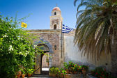 15th century monastery Moni Toplou on Crete — Stock Photo