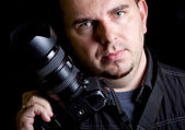 Self portrait of the photographer — Stock Photo