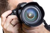 Cómo tomar fotografías fotógrafo — Foto de Stock