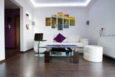 Interior de quarto moderno lliving — Fotografia Stock