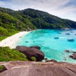 Idyllic beach of Similan islands - Stock Photo