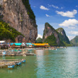Koh Panyee fisherman village in Thailand — Stock Photo
