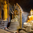 Buddha statues in Thai temple — Stock Photo
