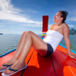 Boat trip to Phang Nga bay in Thailand — Stock Photo