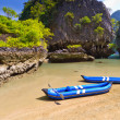 Kayak trip to the island on Phang Nga Bay — Stock Photo #16325809