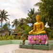 Statue of golden Buddha in Thailand — Stock Photo