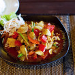 Chicken in sweet and sour souce - Stock Photo