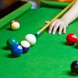 Playing pool — Stock Photo