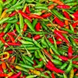 Red and green chili peppers — Stok Fotoğraf #16900559