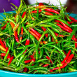 Stock Photo: Red and green chili peppers