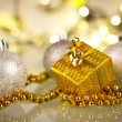 Christmas gift and baubles — Stock Photo #16905259