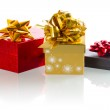 Christmas present boxes — Stock Photo #16906059