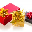 Christmas present boxes — Stock Photo