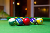 Colorful billiard balls — Stock Photo