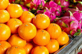 Tangerine fruits on the local market — Stock Photo