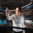 Futuristic touch screen — Stock Photo #16960259