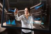 Futuristic touch screen — Stock Photo