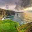 Cliffs of Moher at sunset in Co. Clare — Stock fotografie