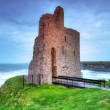 Stock Photo: Ruins of Ballybunion castle on coast
