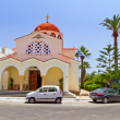 Foto Stock: Church on the coast of Crete