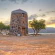 Old windmill ruin at Mirabello Bay on Crete — Stock Photo