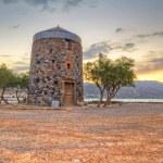 Old windmill ruin at Mirabello Bay on Crete — Stock Photo