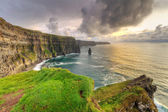 Cliffs of Moher at sunset in Co. Clare — Stockfoto