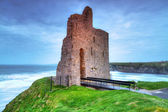 Ruins of Ballybunion castle on the coast — Stock Photo