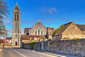 Square with church in Portumna town — Stock Photo