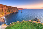 Cliffs of Moher at sunset in Co. Clare — Стоковое фото