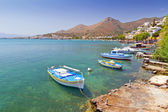 Small fishing boats at the coast of Crete — Stock Photo