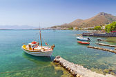 Small fishing boats at the coast of Crete, — Stock Photo