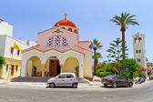 Church on the coast of Crete — Stok fotoğraf