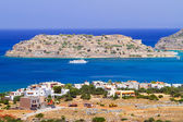 Mirabello Bay view with Spinalonga island on Crete — Stok fotoğraf