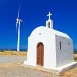 lilla vita kyrkan på Kretas kust — Stockfoto