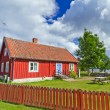 Swedish cottage house — Stock Photo