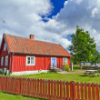 Stok fotoğraf: Swedish cottage house