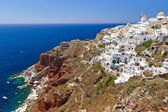 Architecture of Oia town on Santorini — Stock Photo