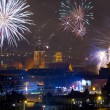 Fireworks display of New Years Eve in Gdansk — Stock Photo