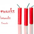 Fireworks with sample text — Stock Photo